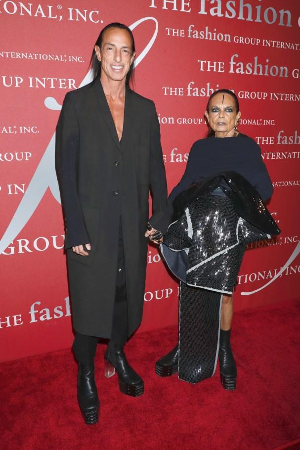 Rick Owens and Michele Lamy.