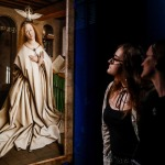 People look at the artwork 'Annunciation: