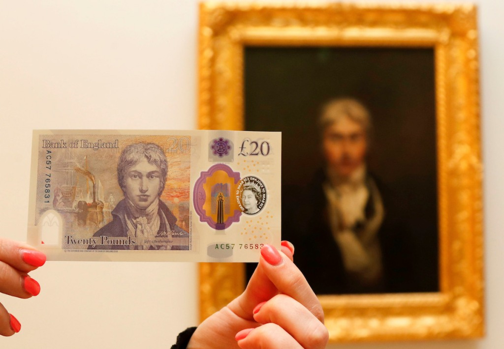New £20 Note Featuring J. M. W. Turner Portrait Begins Circulating in U.K.