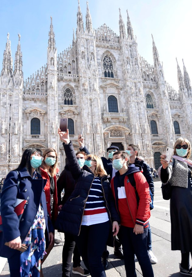 Tourists in Milan