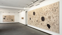 Installation view of James Brown's 2011 exhibition at Galerie Karsten Greve in Paris.