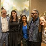 From left to right, Serpentine Galleries artistic director Hans Ulrich Obrist, Serpentine Galleries CEO Bettina Korek, collector Tina Perry-Whitney, collector Ric Whitney, and ARTnews editor-in-chief Sarah Douglas.