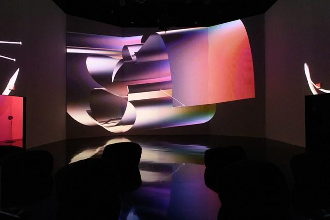"""View of Zach Lieberman's exhibition """"Future"""