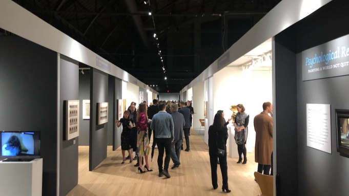 Visitors to the 2020 ADAA Art