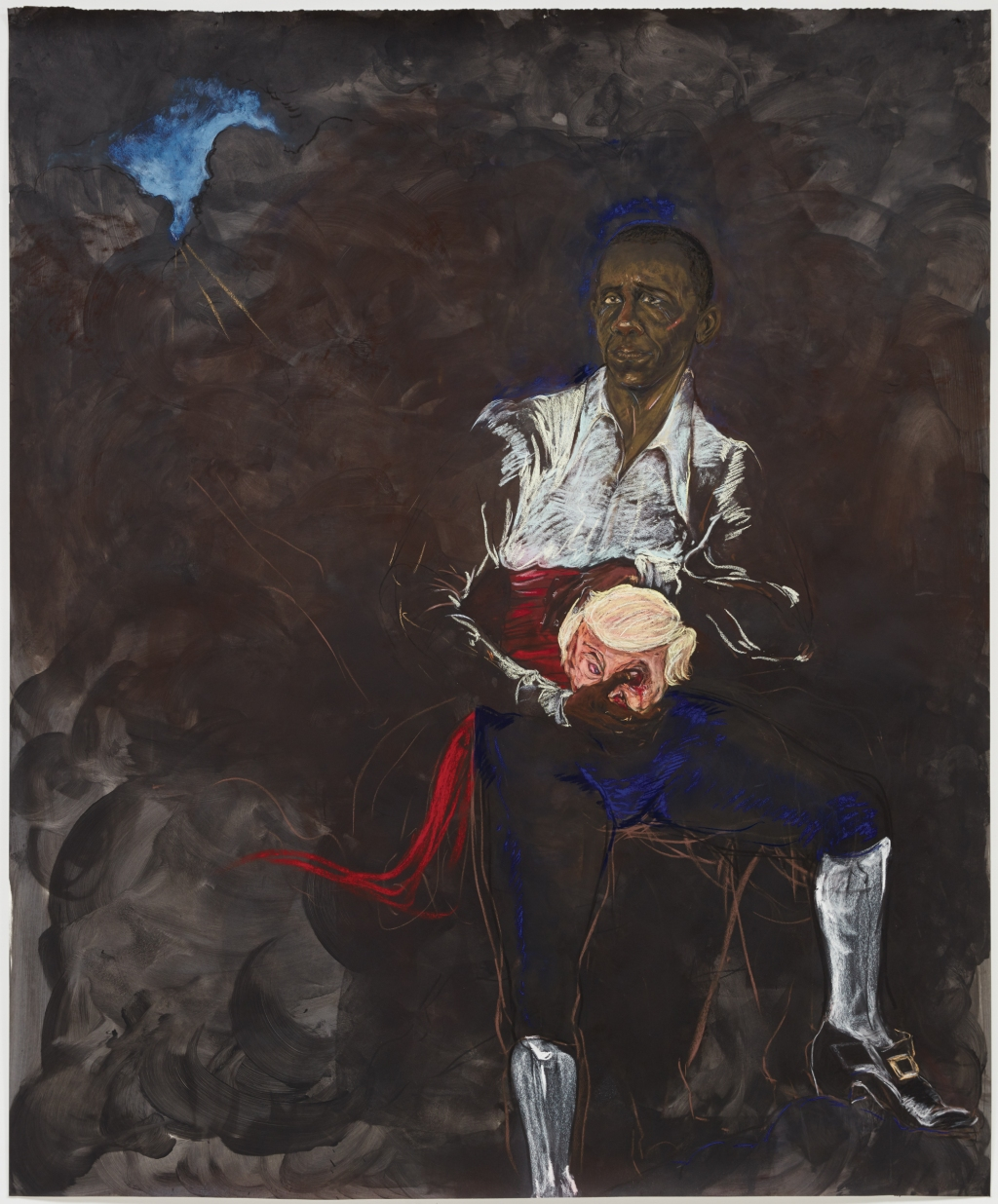 """Kara Walker, 'Barack Obama as Othello """"The Moor"""" with the Severed Head of Iago in a New and Revised Ending by Kara E. Walker', 2019."""