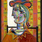 Pablo Picasso, Femme au beret et la collerette (Woman with Beret and Collar) (1937)