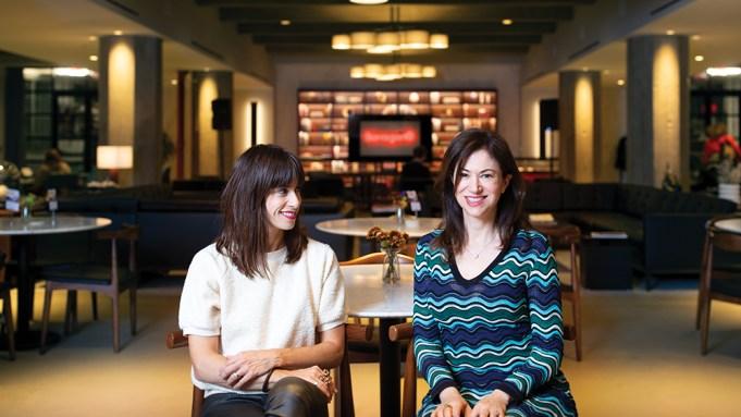 Photo of artist Jill Magid (left)