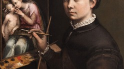 Sofonisba Anguissola, Self-Portrait at the Easel, ca. 1556–57.