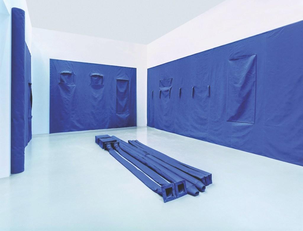 Franz Erhard Walther, 'Raumabnahme Blau', 1997–98.