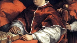'Portrait of Pope Leo X' (1518) by Raphael.