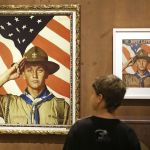 A Norman Rockwell exhibition in Salt Lake City, Utah.