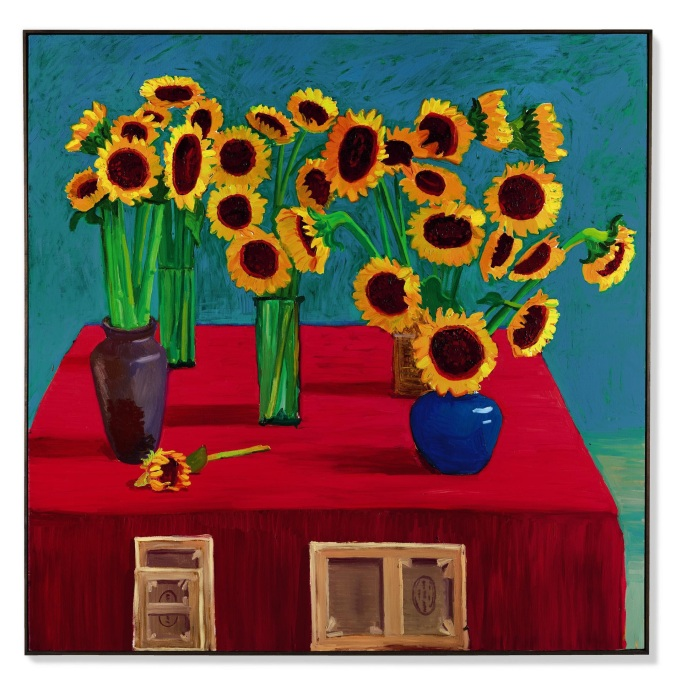 David Hockney, '30 Sunflowers', 1996.