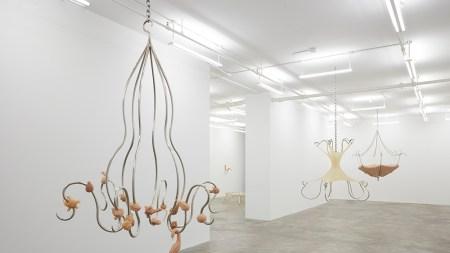 "View of Hannah Levy's exhibition ""Pendulous"