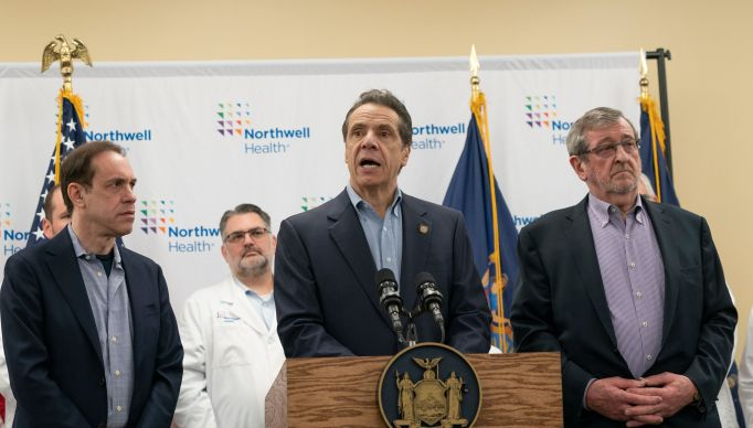 New York Governor Andrew Cuomo doing