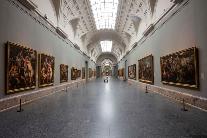 View of an empty gallery at