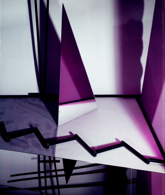 abstract purple and white photo by