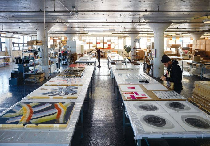View of Andy Blank's expansive studio