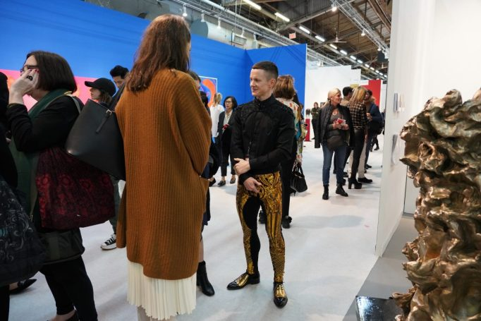 The scene at the Armory Show.