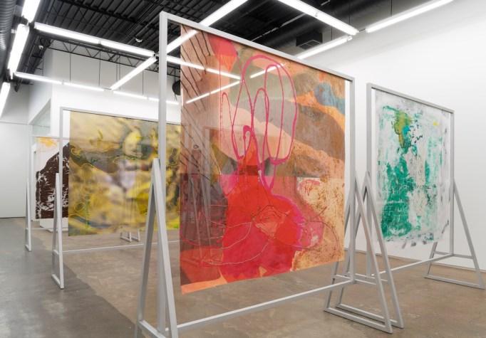 Candida Alvarez's exhibition at Monique Meloche