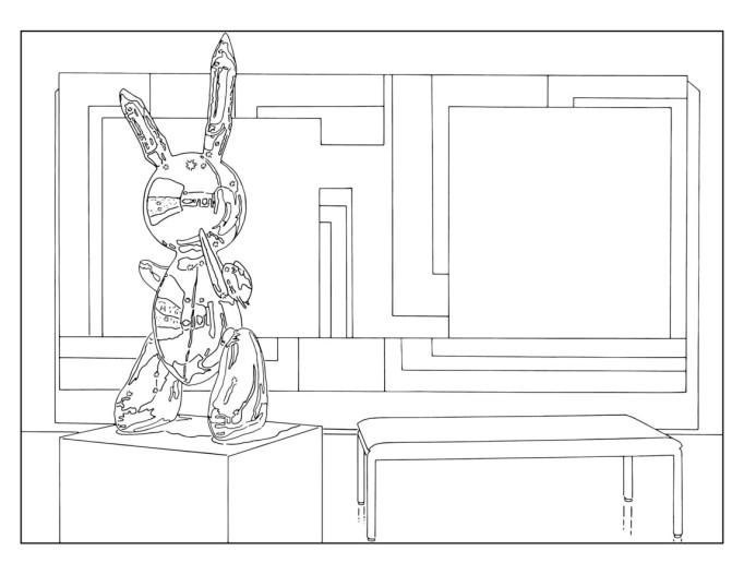 Louise Lawler, '(Bunny) Sculpture and Painting