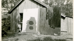 black and white photo of a