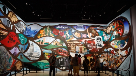 Installation view of Barbara Carrasco's mural
