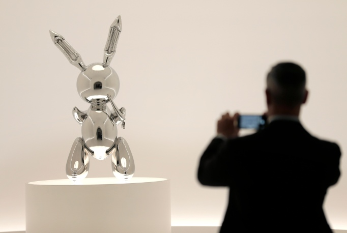 'Rabbit' by Jeff Koons at Christie's