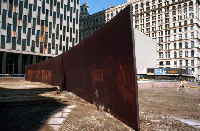 Richard Serra's 'Tilted Arc' was removed