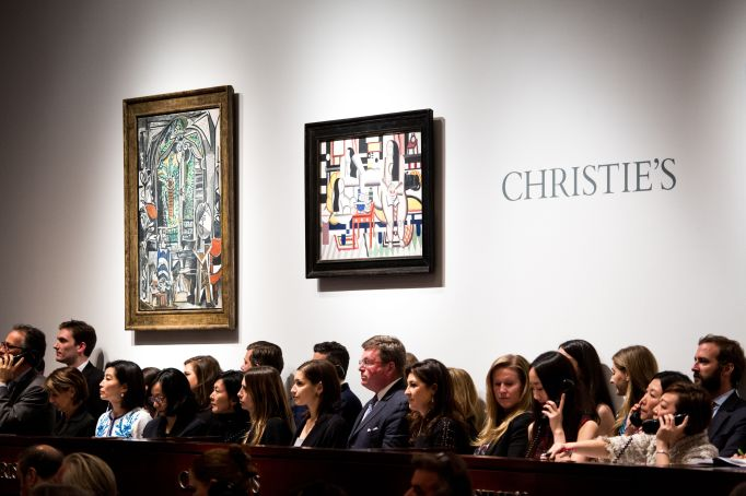 Christie's New York salesroom.