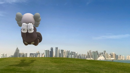 "KAWS, ""COMPANION (EXPANDED),"" in Doha, 2020."