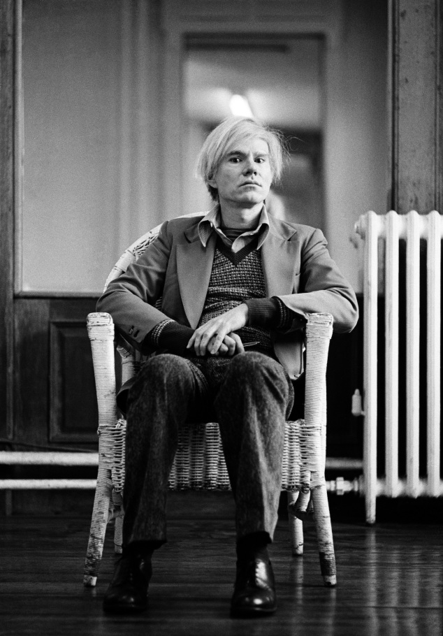 Andy Warhol in his studio in