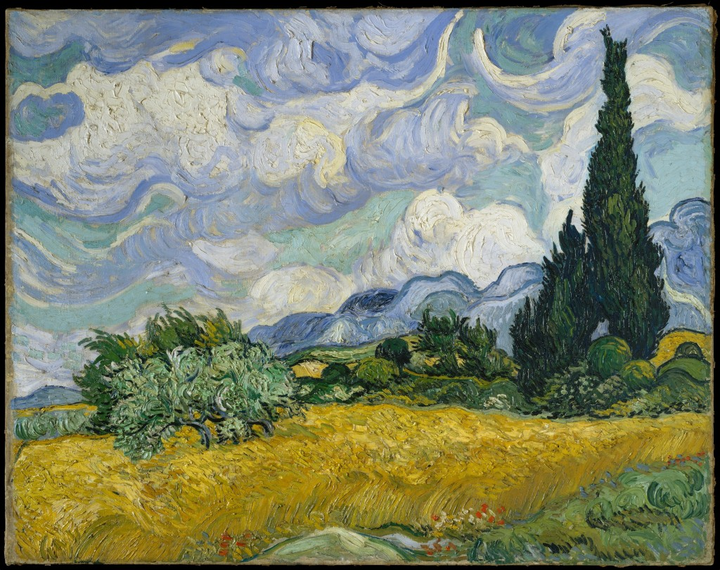 Vincent van Gogh, 'Wheat Field with Cypresses,' 1889, oil on canvas.