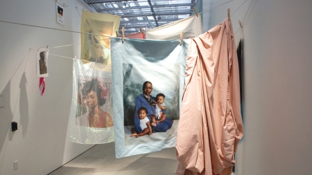 Tyler Mitchell's installation Laundry Line, 2020.