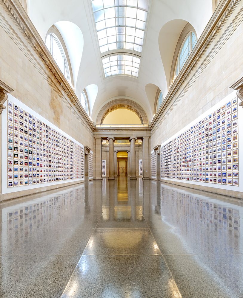 View of Steve McQueen's photo installation Year 3, 2019, at Tate Britain.
