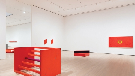 """View of the exhibition """"Judd,"""" 2020,"""