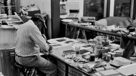 David C. Driskell in his studio,
