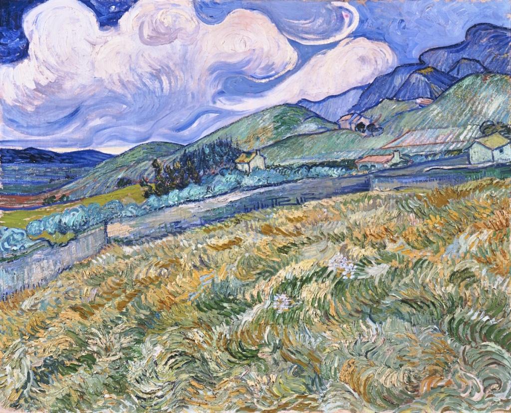 Vincent van Gogh, 'Landscape from Saint-Rémy,' 1889, oil on canvas.