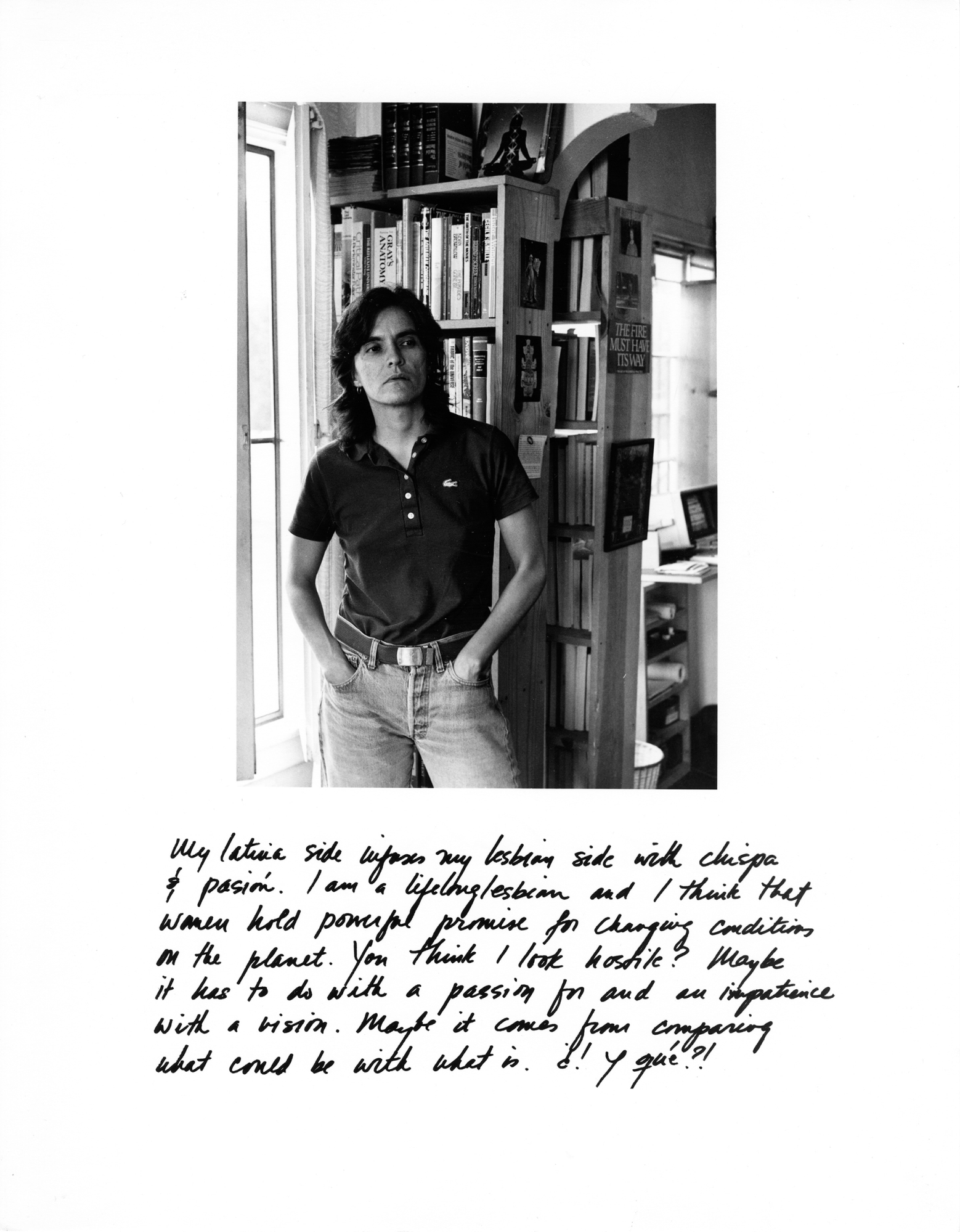 Laura Aguilar, Latina Lesbians (Yolanda Rutter), 1987.