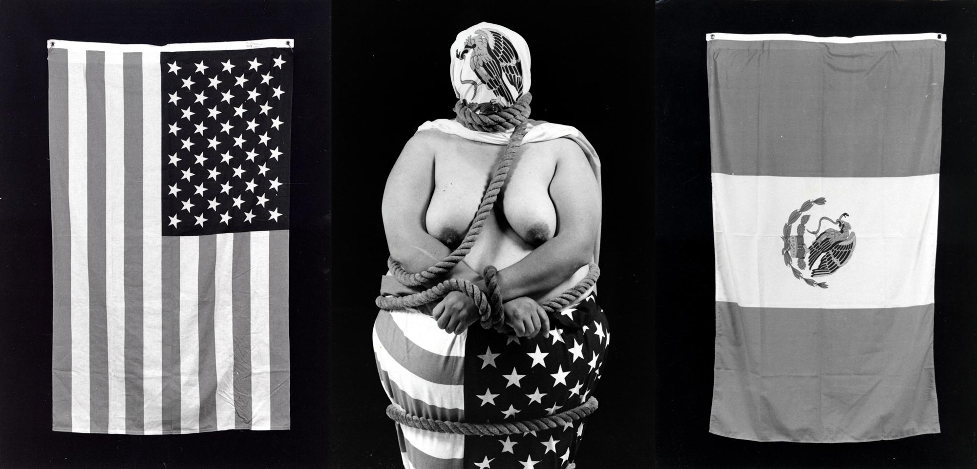 Laura Aguilar, Three Eagles Flying, 1990.
