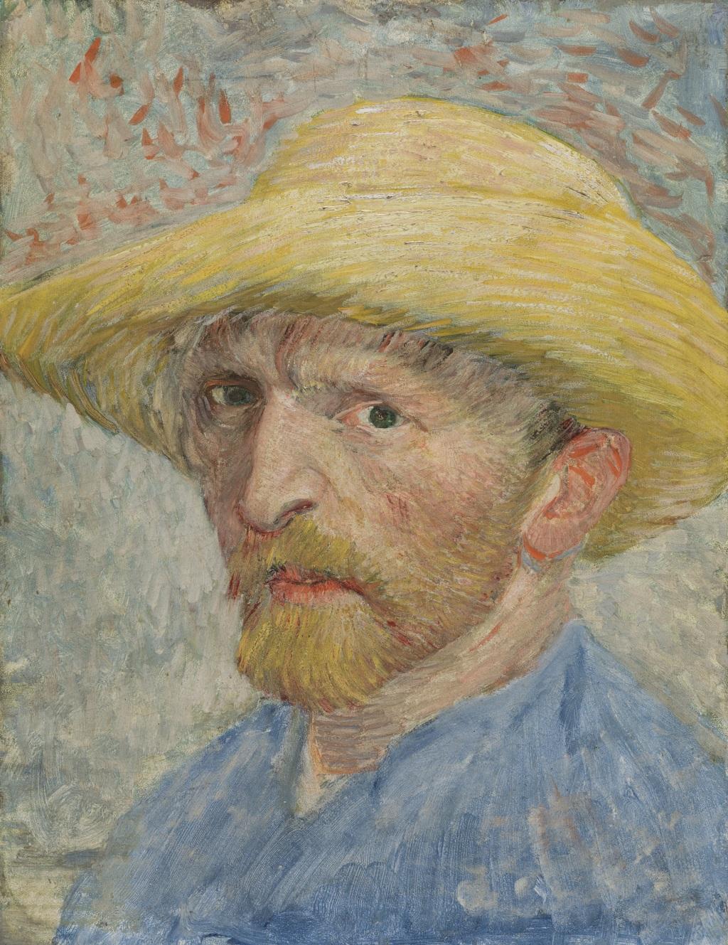 Vincent van Gogh, 'Self-Portrait,' 1887, oil on artist board, mounted to wood panel.