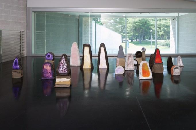 View of Erika Verzutti's installation Mineral