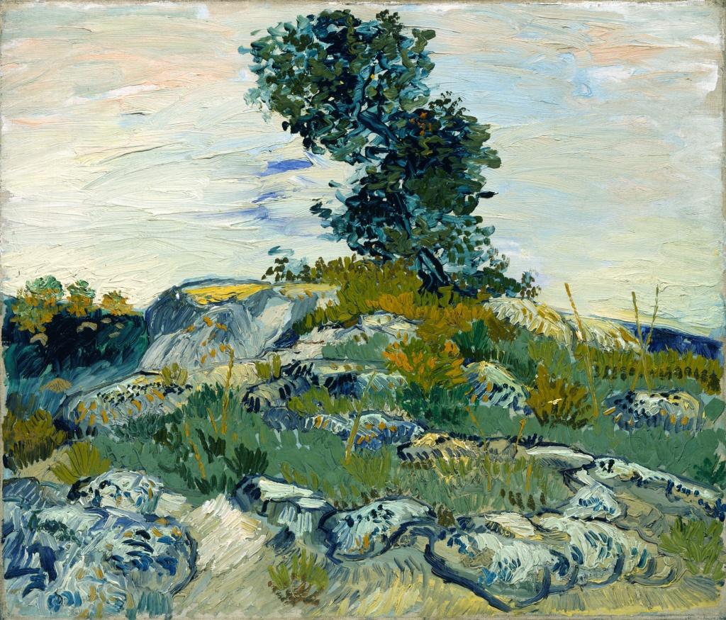 Vincent van Gogh, 'The Rocks,' 1888, oil on canvas.