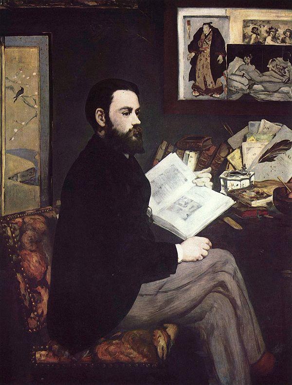 Édouard Manet, Portrait of Émile Zola, 1868.