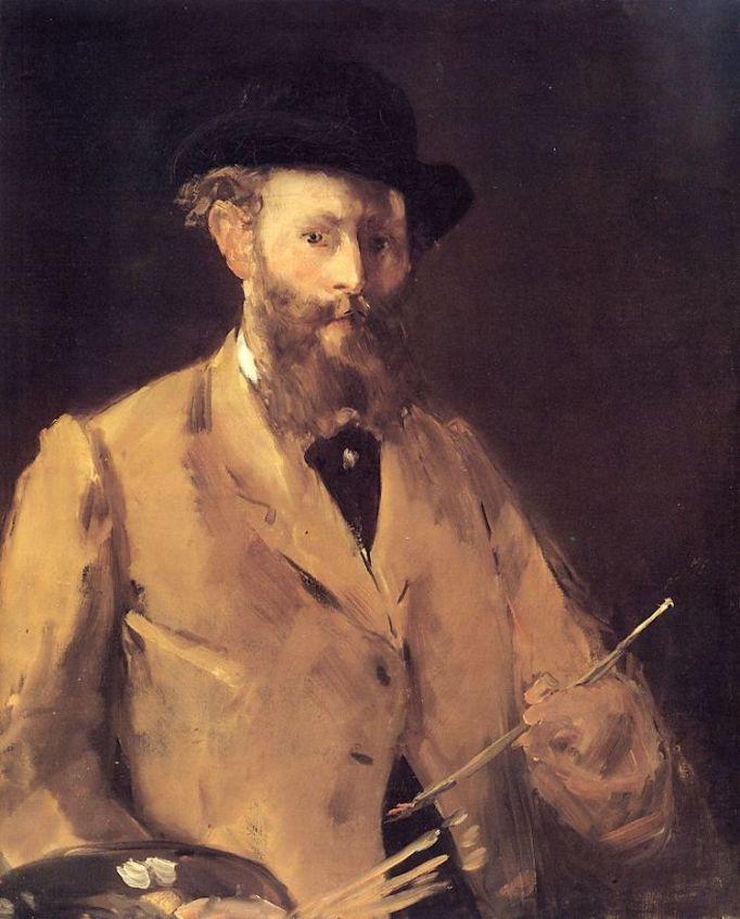 Édouard Manet, Self-Portrait with Palette, 1878–79.