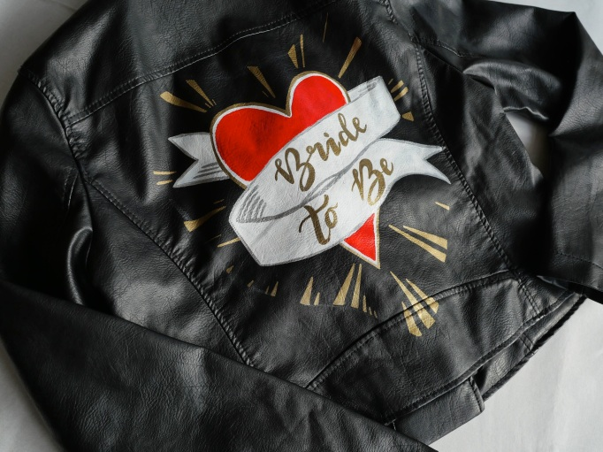 Bride to be leather jacket
