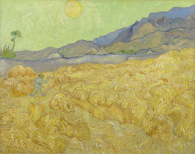 Vincent van Gogh, 'Wheatfield with a Reaper,' 1889, oil on canvas.