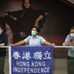 Pro-democracy activists protest against China in