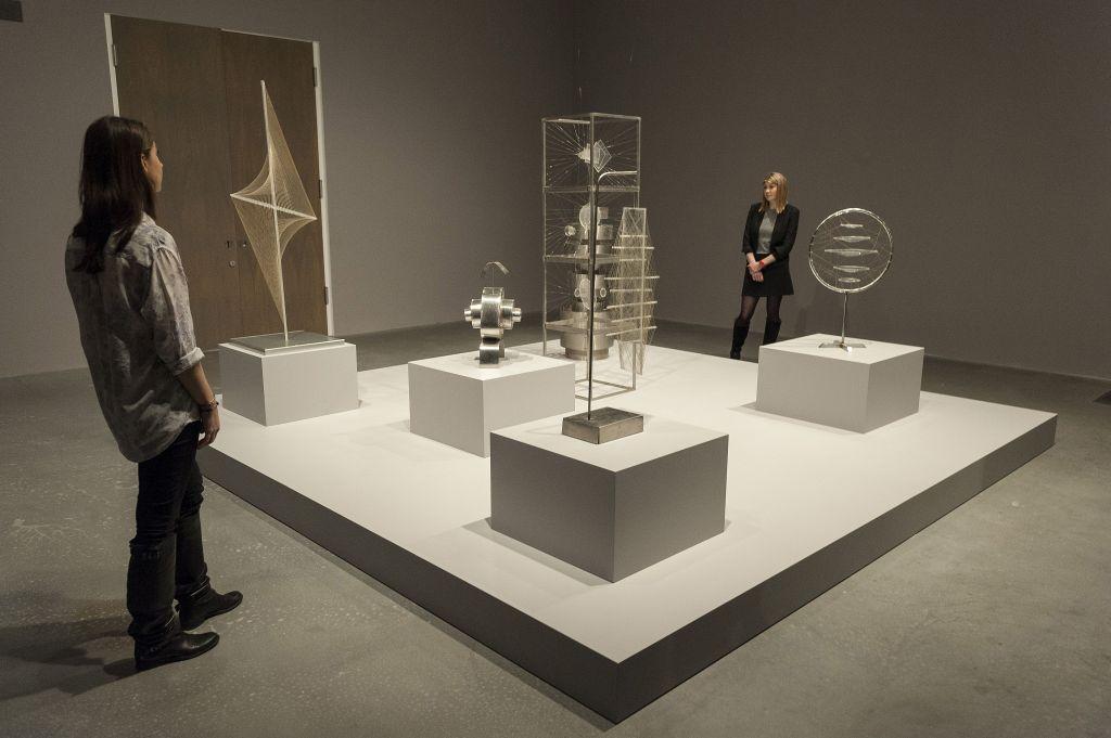 Installation view of 'Saloua Raouda Choucair,' 2013, at Tate Modern, London.lection of untitled sculptures by Roauda ChoucairSaloua Raouda Choucair exhibition, Tate Modern, London, Britain - 16 Apr 2013