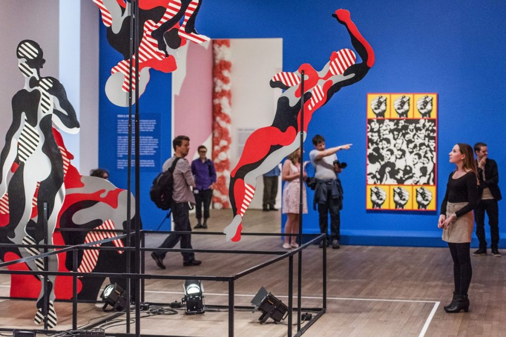 Installation view of 'The World Goes Pop,' 2015, at Tate Modern, London.