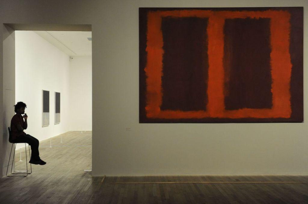 Installation view of 'Mark Rothko,' 2008, at Tate Modern, London.